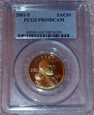 2001 S Key Date Sacagawea $1 Pcgs Proof 69 Deep Cameo
