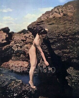 1936 Vintage Early COLOR Art Deco NUDE By JOHN EVERARD