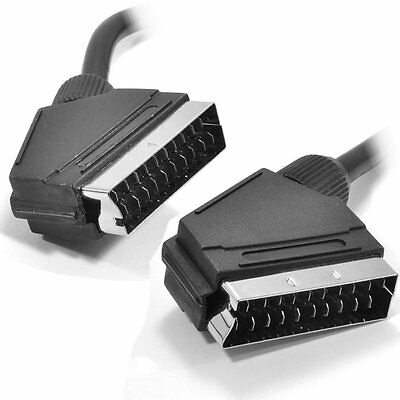 1.5m SCART Cable Plug to Plug 21 Pin (also 3m 5m)