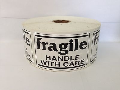 100 Labels 2x3 Black and White fragile Shipping Mailing Warning Stickers
