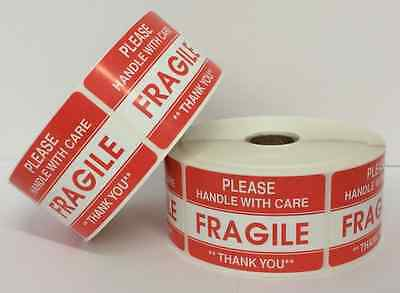 500 Labels 2x3 Please FRAGILE Handle with Care Shipping Mailing Warning Stickers