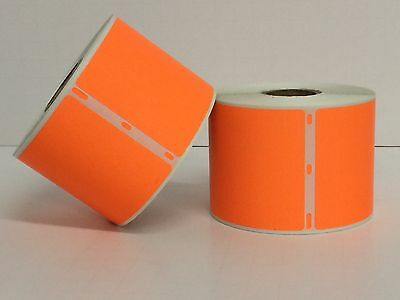 1 Roll of 300 2-5/16x4 ORANGE Dymo Compatible 30256 Labels