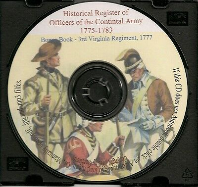 Continental Army Officers Register - Virginia History