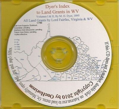 West Virginia Land Grants (Dyer's Index) -Va Genealogy