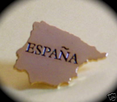"""ESPANA"" Spain Map/Spanish Lapel Pins (25)"