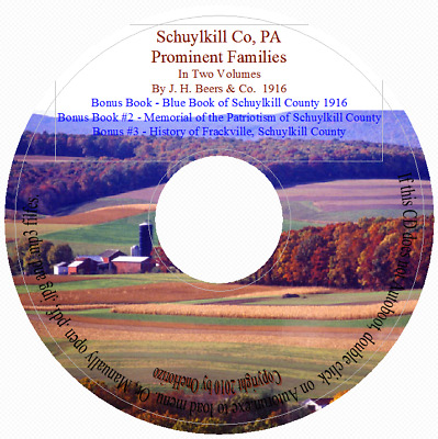 Schuylkill County PA- Prominent Families Vol 1&2 +Bonus