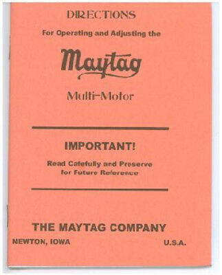 Maytag Operating Booklet