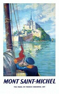 MONT ST MICHEL VINTAGE TRAVEL POSTER France RARE NEW 2