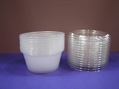 Dart Souffle Cups and Lids 3 1/4 oz. plastic portion containers-1000 each