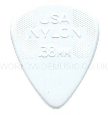 Dunlop Nylon Standard Guitar Picks / Pleactrums 0.38mm - Pack of 12 Picks.