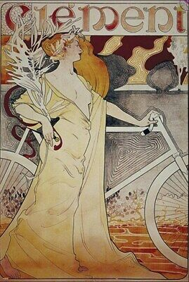 BICYCLE VINTAGE AD POSTER Clement RARE HOT NEW 2
