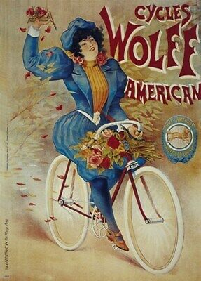 BICYCLE VINTAGE AD POSTER Meppel RARE HOT NEW