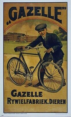 BICYCLE VINTAGE AD POSTER Chalet RARE HOT NEW