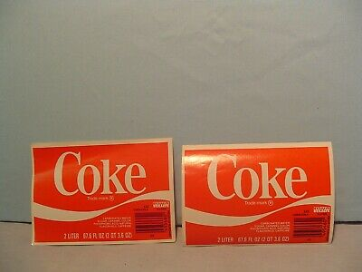 Coca-Cola Coke Label 1985 Never Used Mint Texas B Plant