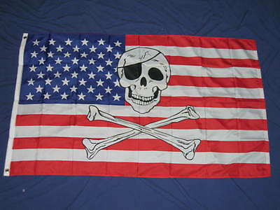3X5 Usa Pirate Flag New Jolly Roger American Us F742