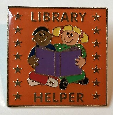 """LIBRARY HELPER"" Enamel Lapel Pins/Lot of 25/NIB"