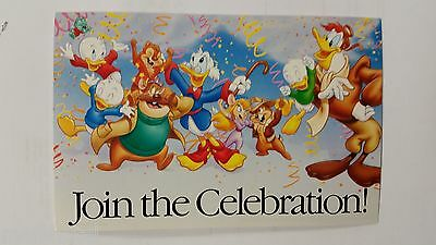 Disney Afternoon Postcard Rescue Rangers Celebration Promotional 1989 Ost Card