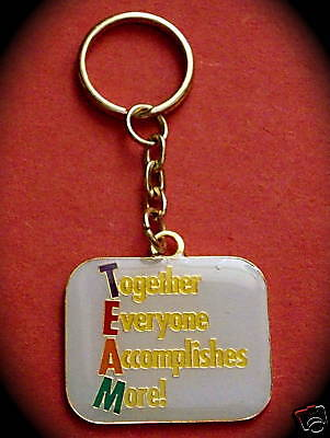 "TEAM ""Together Everyone Accomplishes More!"" Keyrings/10/NIB!"