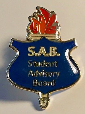 """S.A.B. Student Advisory Board"" Lapel Pins/25/All New!"