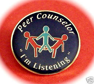 """Peer Counselor, I'm Listening"" Enamel Lapel Pins/25"