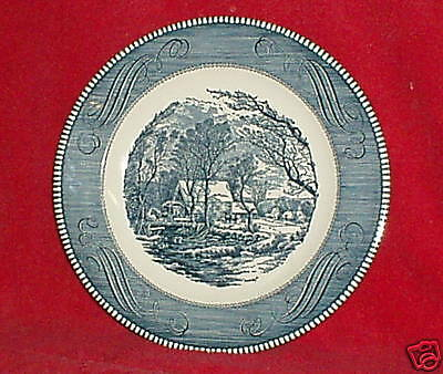 """Royal China Currier & Ives 10"""" Dinner Plates Set of 2"""