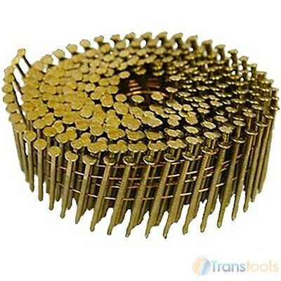 16,000 Box Coiled Nails 27mm Galvanised Ring Flat 16 Degree