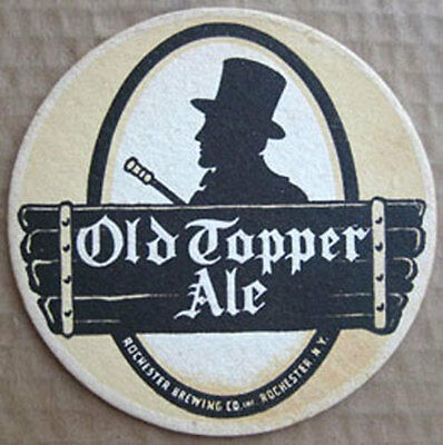 OLD TOPPER ALE 1940's Beer COASTER, Mat with No BUG, Rochester, NEW YORK