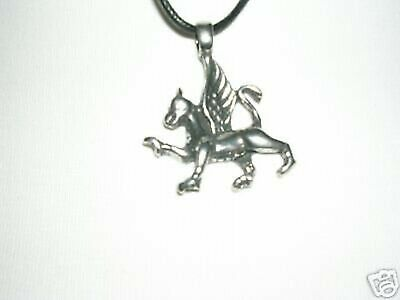 """New Mythical Griffin Silver Pewter Pendant 30"""" Necklace"""