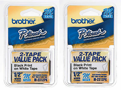 Brother M231 PTouch Label Tape P-Touch M-231 (4) PACK