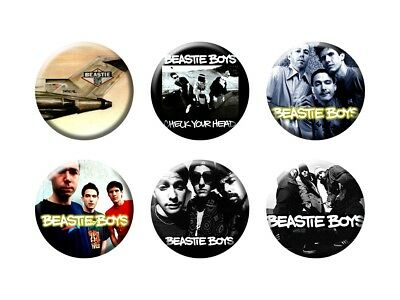 BEASTIE BOYS 6 new Buttons/Magnets