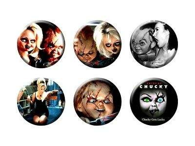 BRIDE OF CHUCKY 6 new Buttons/Magnets