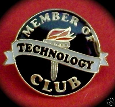 """TECHNOLOGY CLUB"" Enamel Lapel Pins/Lot of 18/NIB"