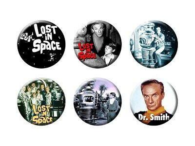 LOST IN SPACE 6 New Buttons/Magnets