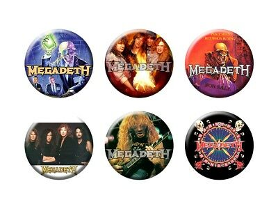 MEGADETH 6 new Buttons/Magnets