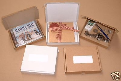 8xTOUGH WHITE PIZZA STYLE CD BOXES/MAILERS PIP PERFECT 145 x 125 x 21mm
