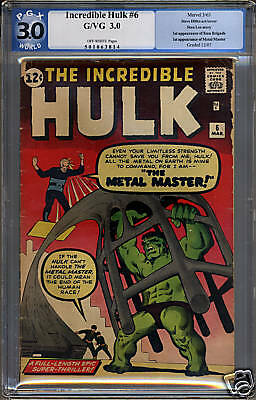 Incredible Hulk #6  PGX 3.0  GD/VG  Universal