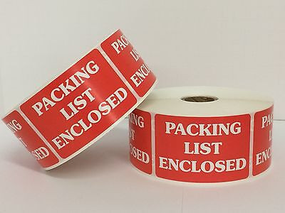 100 Labels 2x3 PACKING LIST ENCLOSED Special Handling Shipping Mailing Stickers