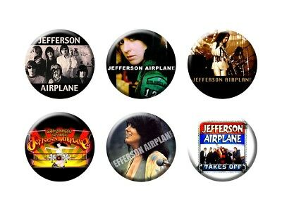 JEFFERSON AIRPLANE 6 new Buttons/Magnets