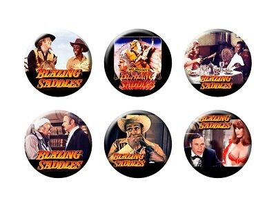BLAZING SADDLES 6 new Classic Comedy Buttons/Magnets