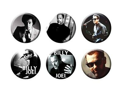 BILLY JOEL 6 new Buttons/Magnets