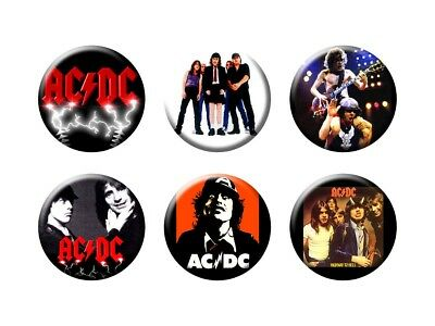 AC/DC 6 new  Buttons/Magnets