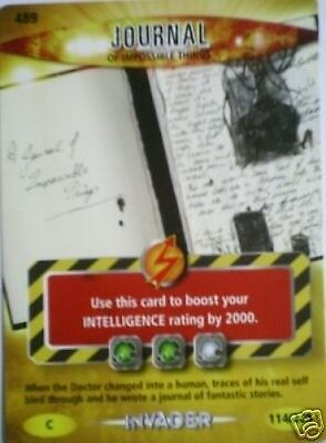 Dr Who Invader Card 489 Journal Of Impossible Things