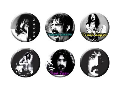 FRANK ZAPPA 6 new Buttons/Magnets