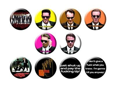 RESERVOIR DOGS 10 New Tarantino Movie Buttons/Magnets