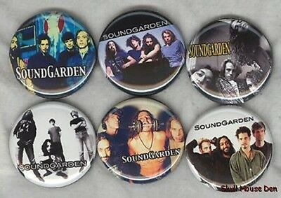 SOUNDGARDEN 6 New Buttons/Magnets