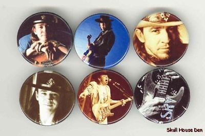 STEVIE RAY VAUGHAN 6 New Buttons/Magnets