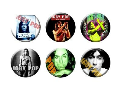 IGGY POP 6 new Buttons/Magnets