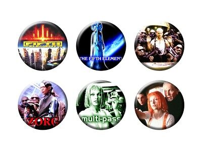 FIFTH ELEMENT 6 New Buttons/Magnets