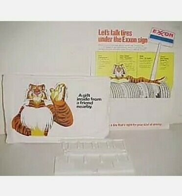 Vintage Esso Tiger Exxon Gas Station Premium Thread Holder Opened Package