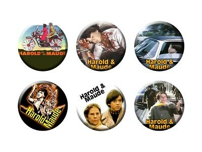 HAROLD AND MAUDE 6 New Buttons/Magnets